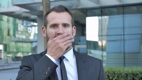 Shocked, Wondering Businessman Astonished by Result stock video footage