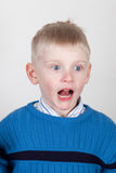 Shocked young boy Stock Photo
