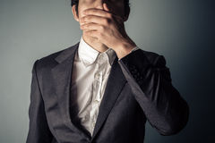 Shocked young businessman Stock Images