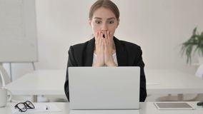 Shocked Young Businesswoman Wondering in Awe, Astonished. 4k high quality, 4k high quality stock video