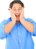 Shocked Young Caucasian Male Royalty Free Stock Photo
