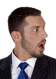 Shocked young executive Royalty Free Stock Image