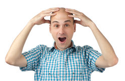 Shocked young man Stock Image