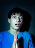 Shocked Young Man Royalty Free Stock Photos