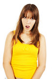 Shocked young woman Stock Images