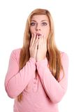 Shocked young woman Stock Photography