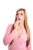 Shocked young woman Royalty Free Stock Photos