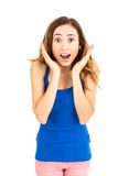 Shocked young woman Royalty Free Stock Photo