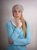 Shocked young woman Royalty Free Stock Photography