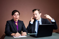Shocking cell phone news Royalty Free Stock Photo