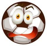 Shocking face on football Stock Photo