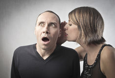 Shocking gossip royalty free stock image