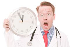 Shocking medical time (spinning watch hands version) Stock Image