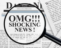 Shocking news headline Royalty Free Stock Photos