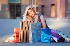 Shocking shopping Royalty Free Stock Photo
