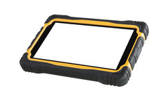 ShockProof Tablet Computer Isolated - Stock Image Royalty Free Stock Photo