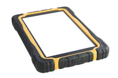 ShockProof Tablet Computer Isolated - Stock Image Royalty Free Stock Photos