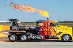 Shockwave Jet truck Royalty Free Stock Photo