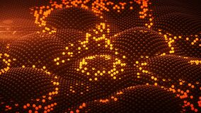 Free Shockwave On Surface Of Orange Glowing Spheres 3D Rendering Illustration Royalty Free Stock Image - 210529926