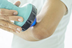 Shockwave Therapy on elbow Royalty Free Stock Photo