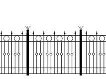 Shod fence horizontal seamless Stock Photos