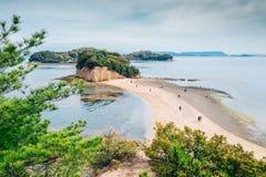 Shodoshima Angel road sea landscape in Shikoku, Japan. Shodoshima Angel road sea landscape at Shikoku, Japan stock photo