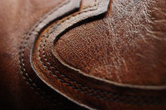 Shoe. Detail of a leather shoe royalty free stock photo