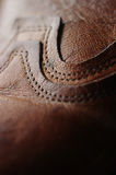 Shoe. Detail of a leather shoe stock photography