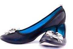 Shoe. Nice black shoes on white background Stock Photography