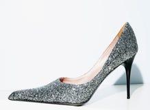 Shoe. Elegant and glitter high-heeled shoe Royalty Free Stock Photo