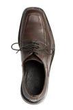 Shoe. Men's dress shoe, brown leather Stock Photo