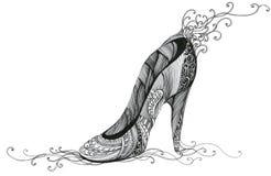 Shoe. Beautiful decorated woman shoe (Cbm painting Royalty Free Stock Photography
