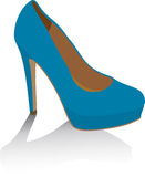 Shoe. Blue shoes on white. Vector illustration Royalty Free Stock Photo
