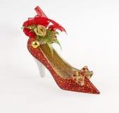 Shoe. Decorative shoe for Christmas tree royalty free stock photos