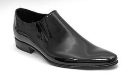 Shoe. Black glossy leather man's shoe Stock Photo