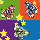 Shoe background Royalty Free Stock Images