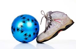 Shoe and ball Stock Photo