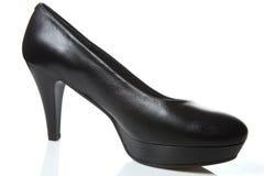 Shoe black. Heeled shoe black color on white background Royalty Free Stock Photo