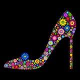 Shoe on black background Royalty Free Stock Images