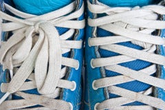 Shoe blue Royalty Free Stock Photos