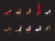Shoe and boot illustration Stock Photos