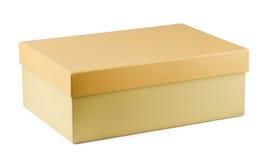 Shoe box. Closed cardboard shoe box isolated on white Stock Image