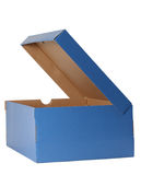 Shoe box with opened cover Royalty Free Stock Images