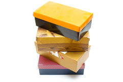 Shoe boxes Royalty Free Stock Images