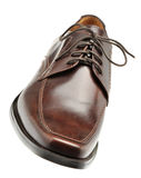 Shoe a brown leather Stock Image
