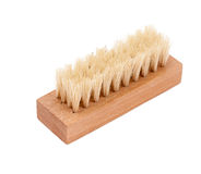 Shoe brush. Shoe brush on a white background Royalty Free Stock Photo