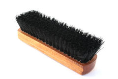 Shoe brush. Brush for a shoe-polish on a white background Royalty Free Stock Photo