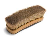 Shoe Brush. Large Brown Horse Hair Shoe Brush Isolated on White Background Stock Images