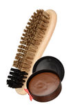 Shoe brush and polish Royalty Free Stock Images