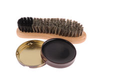 Shoe brush with wax Stock Photography